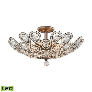 Elk Evolve 8-light LED Semi Flush in Weathered Zinc