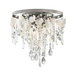 Elk Alexandra Weathered Zinc 3-light Semi Flush