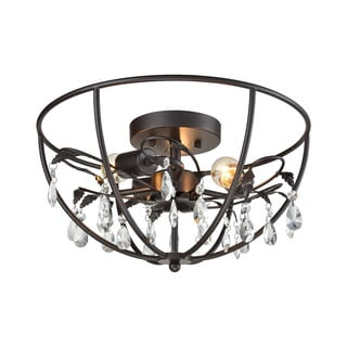 Elk Bridget 3-light LED Semi Flush in Oil Rubbed Bronze