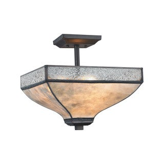 Elk Santa Fe 3-light LED Semi Flush in Tiffany-style Bronze