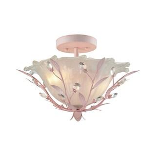 Elk Circeo 2-light LED Semi Flush In-light LED Pink
