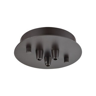 Elk Illuminaire Accessories 3-light Small Round Canopy Flush Mount in Oil Rubbed Bronze
