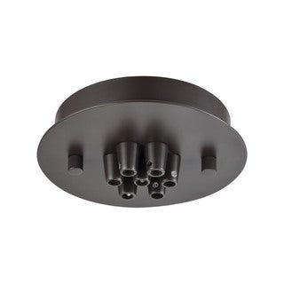 Elk Illuminaire Accessories 7-light Small Round Canopy Flush Mount in Oil Rubbed Bronze