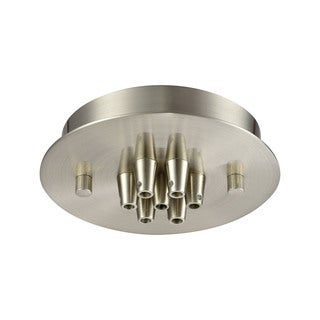 Elk Illuminaire Accessories 7-light Small Round Canopy Flush Mount in Satin Nickel