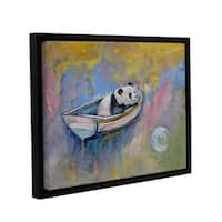 ArtWall Michael Creese's Panda Moon, Gallery Wrapped Floater-framed Canvas