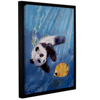 ArtWall Michael Creese's Panda Diver, Gallery Wrapped Floater-framed Canvas