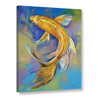 ArtWall Michael Creese's Orenji Butterfly Koi, Gallery Wrapped Canvas