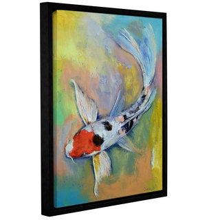 ArtWall Michael Creese's Maruten Butterfly Koi, Gallery Wrapped Floater-framed Canvas