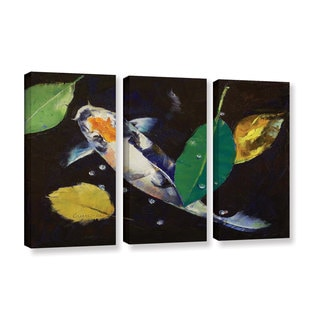 ArtWall Michael Creese's Kumonryu Koi, 3 Piece Gallery Wrapped Canvas Set