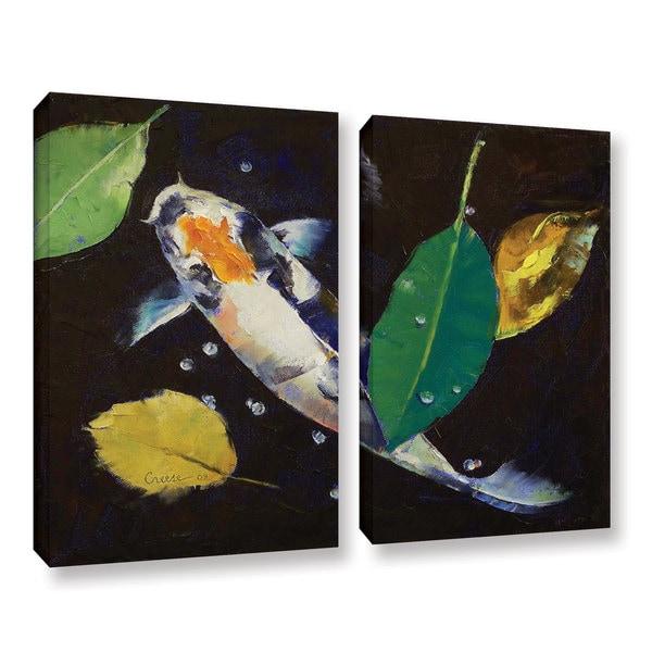 ArtWall Michael Creese's Kumonryu Koi, 2 Piece Gallery Wrapped Canvas Set