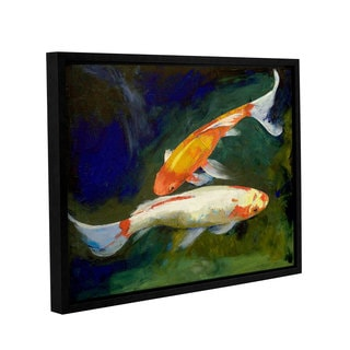 ArtWall Michael Creese's Feng Shui Koi Fish, Gallery Wrapped Floater-framed Canvas