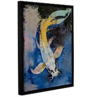 ArtWall Michael Creese's Dragon Koi, Gallery Wrapped Floater-framed Canvas