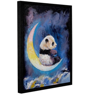 ArtWall Michael Creese's Crescent Moon, Gallery Wrapped Floater-framed Canvas