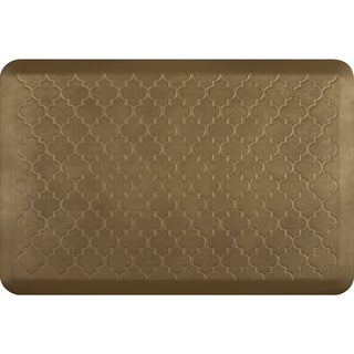 WellnessMats Estates Essential Collection Anti Fatigue Mat Aztec Gold Trellis (36 x 24)