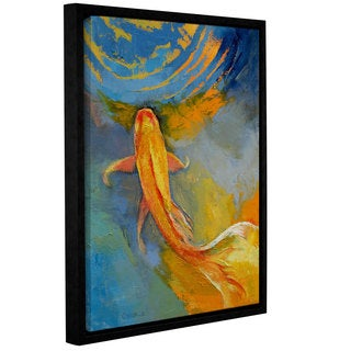 ArtWall Michael Creese's Butterfly Koi, Gallery Wrapped Floater-framed Canvas