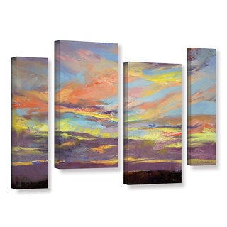 ArtWall Michael Creese's Atahualpa Sunset, 4 Piece Gallery Wrapped Canvas Staggered Set