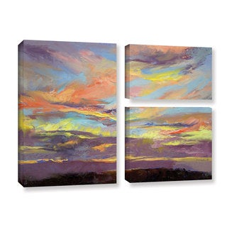 ArtWall Michael Creese's Atahualpa Sunset, 3 Piece Gallery Wrapped Canvas Flag Set