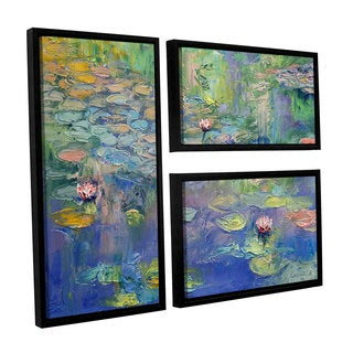 ArtWall Michael Creese's Atahualpa Sunset, 3 Piece Floater Framed Canvas Flag Set