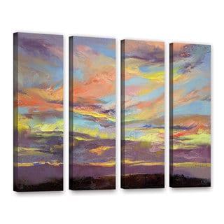 ArtWall Michael Creese's Atahualpa Sunset, 4 Piece Gallery Wrapped Canvas Set