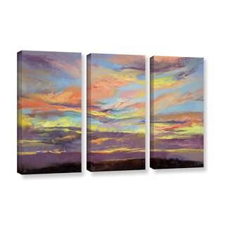 ArtWall Michael Creese's Atahualpa Sunset, 3 Piece Gallery Wrapped Canvas Set