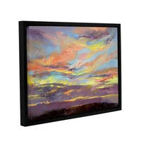 ArtWall Michael Creese's Atahualpa Sunset, Gallery Wrapped Floater-framed Canvas - Multi