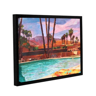 ArtWall Marcus/Martina Bleichner's The Palm Springs Pool , Gallery Wrapped Floater-framed Canvas