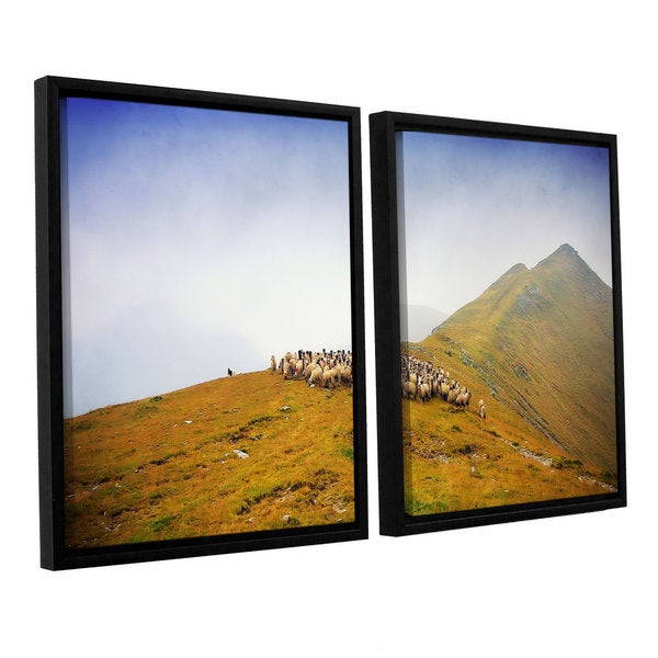 ArtWall Dragos Dumitrascu's Far in the Distance, 2 Piece Floater Framed Canvas Set - Multi