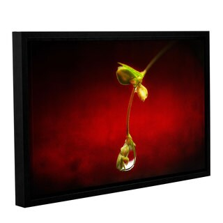 ArtWall Dragos Dumitrascu's Tears in the Rain, Gallery Wrapped Floater-framed Canvas