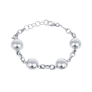 La Preicosa Sterling Silver Half-Bead Link Bracelet