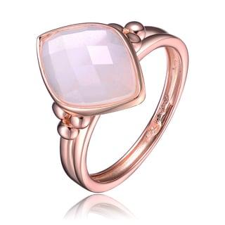 Collette Z Rose Gold Overlay White Cubic Zirconia Diamond Shape Ring