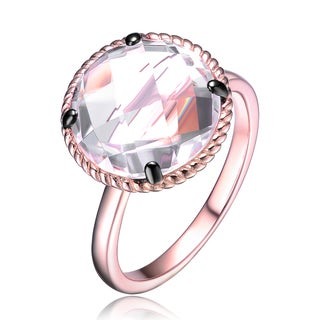 Collette Z Rose Sterling Silver Cubic Zirconia Pear Statement Ring