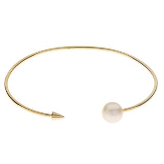Pearls For You Freshwater Pearl 'Arrow' Bangle (8-8.5mm)