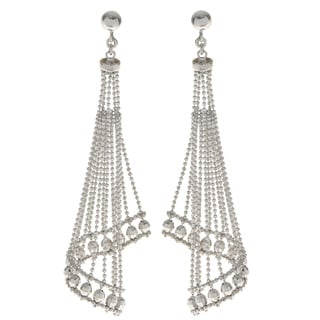 Pearls For You Sterling Silver Cascading 'Lace' Earrings