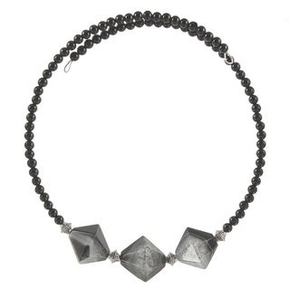 Nephthys Quartz and Onyx Choker Necklace
