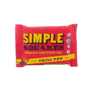 Simple Squares Organic Chili Pep Nutrition Bars (Pack of 12)