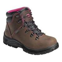 Women's Avenger A7125 Steel Toe EH Waterproof Hiker Brown Leather