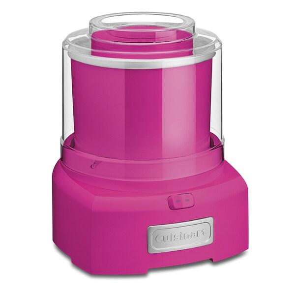 Cuisinart Ice 21pk Pink Automatic Frozen Yogurt Ice Cream
