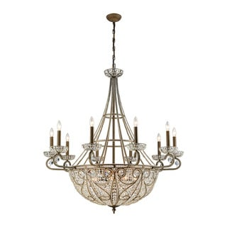 Elk Elizabethan 18-light LED Chandelier in Dark Bronze