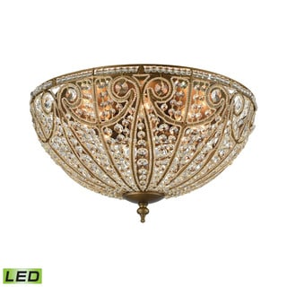 Elk Elizabethan 8-light LED Flush in Dark Bronze
