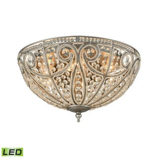Elk Elizabethan 6-light LED Flush in Weathered Zinc
