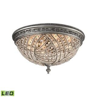 Elk Renaissance 6-light LED Flush in Weathered Zinc - Brown