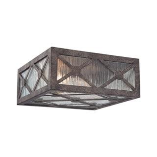 Elk Radley 2-light LED Flush in Malted Rust