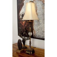 Polystone Metal Lamp