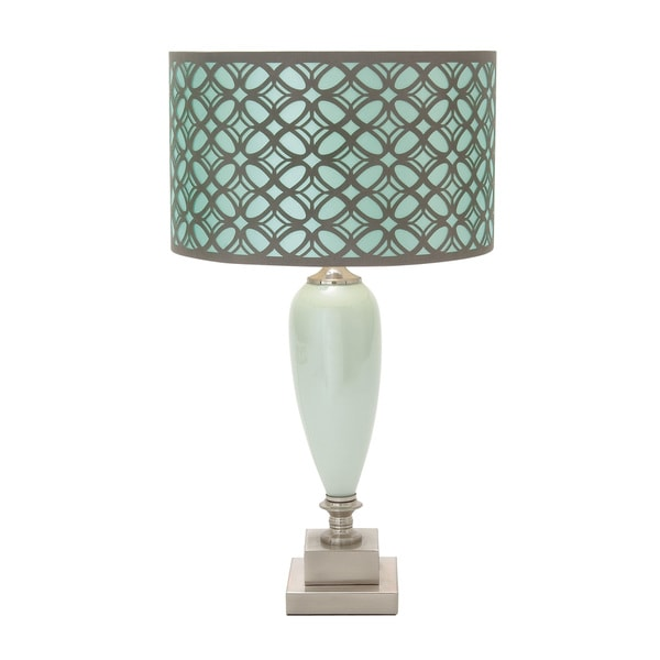 modern reflections green glass table lamp free shipping today. Black Bedroom Furniture Sets. Home Design Ideas