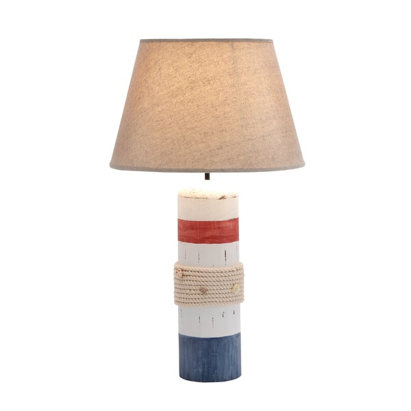 Red, White and Blue Nautical Table Lamp