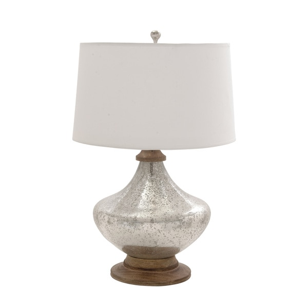 New Traditional Short Glass Table Lamp