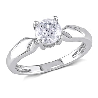 Miadora Signature Collection 14k White Gold 3/4ct TDW Diamond Solitaire Engagement Ring