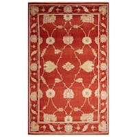 Hand-Knotted Oriental Red Area Rug (5' X 8')