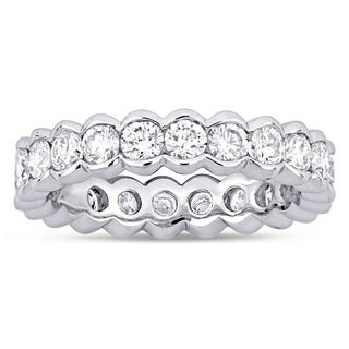Miadora Signature Collection 18k White Gold 2ct TDW Diamond Eternity Ring