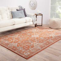 Hand-Knotted Oriental Red Area Rug (5' X 8') - 5' x 8'